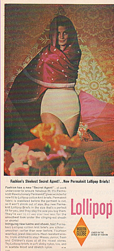 Lollipop Permaknit Briefs Ad 1963