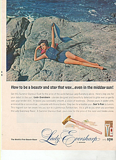 Lady Eversharp By Schick Ad 1963