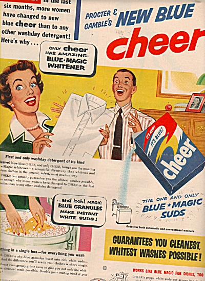 Cheer blue magic suds ad 1953 (Image1)