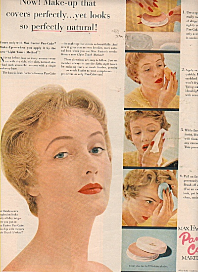 Max Factor Pan cake make up ad 1953 (Image1)