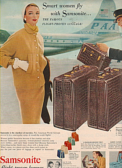 Samsonite flight proven luggage ad 1953 (Image1)