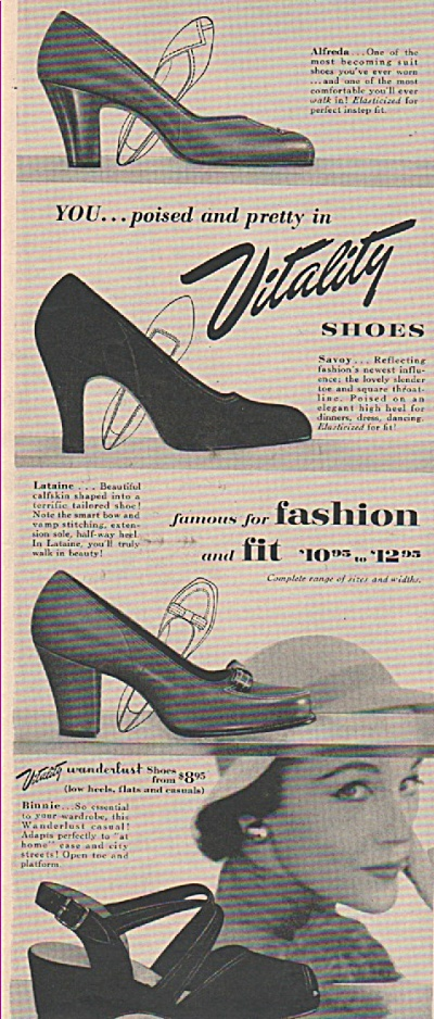 Vitality Shoes Ad 1953