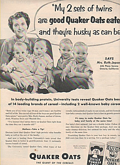 Quaker Oats - Thejepson Twins 1953