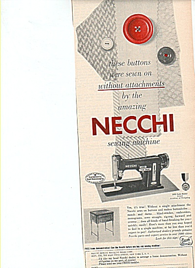 Necchi sewing machine ad 1951 (Image1)