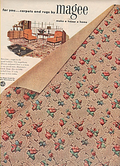 Magee carpets and rugs ad 1953 (Image1)