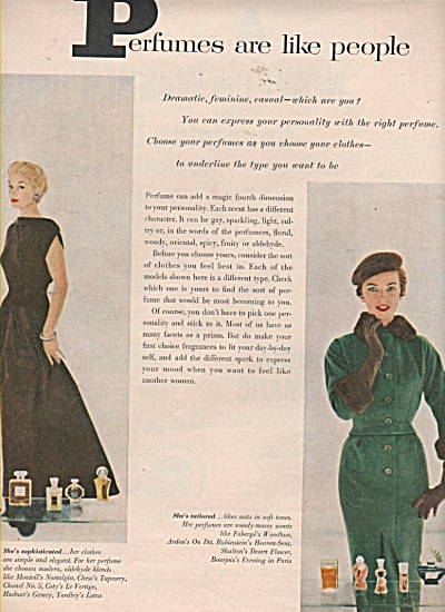 Perfumes are like people - Models display 1953 (Image1)