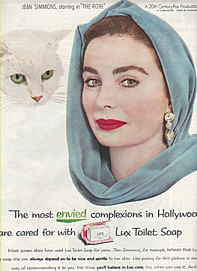 Lux toilet soap - JEAN SIMMONS  - ad 1953 (Image1)