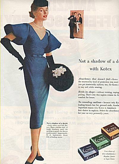Kotex napkins ad 1953 (Image1)