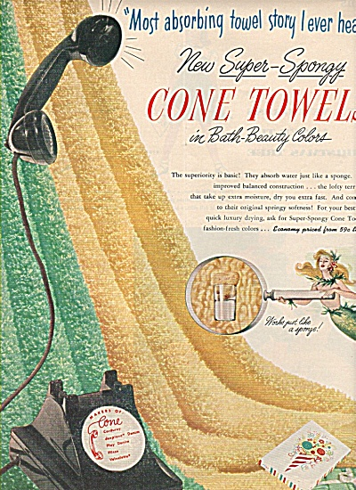 Cone Towels Ad 1951