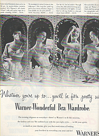Warner's bras-girdles-corselettes ad 1953 (Image1)