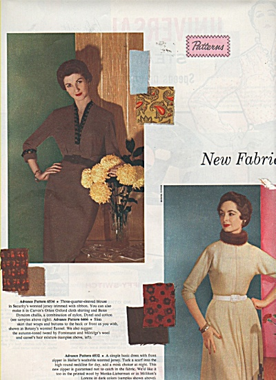 New fabrics - Displayed by Models 1953 (Image1)