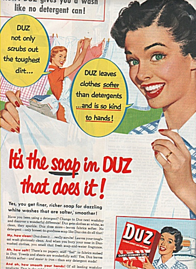 Duz washing soap ad 1953 (Image1)