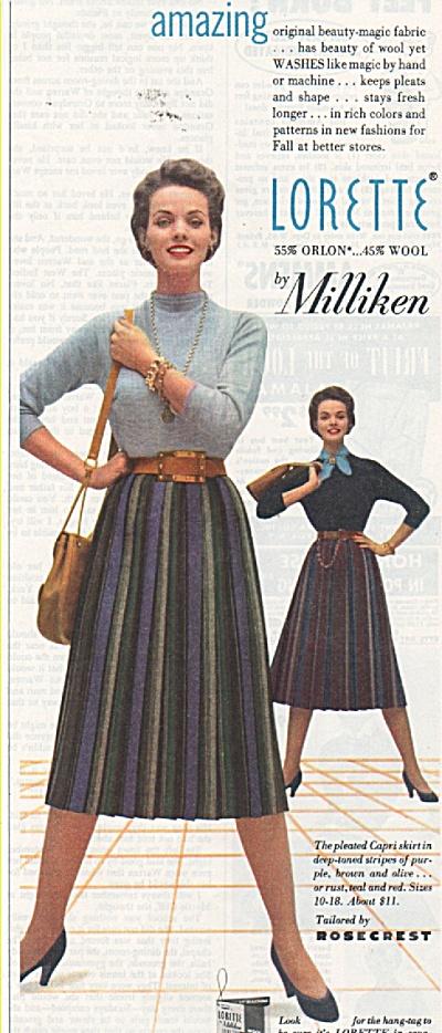 Lorette by Milliken ad 1953 (Image1)
