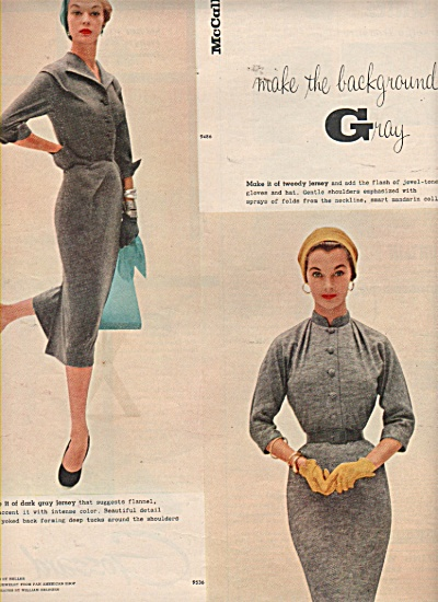 McCalls Patterns - Models display outfits ad 1953 (Image1)