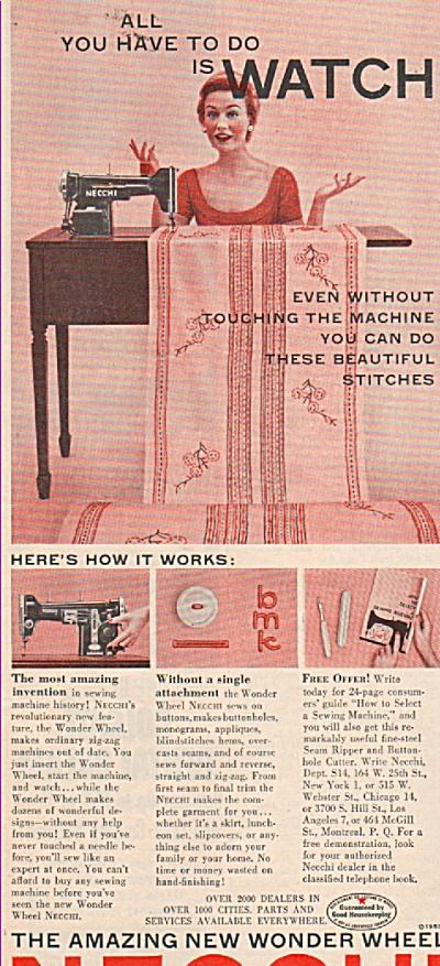 Necchi sewibng machines ad 1953 (Image1)