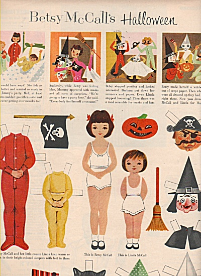 Betsy Mccalls Halloween Dolls And Dresses 1953