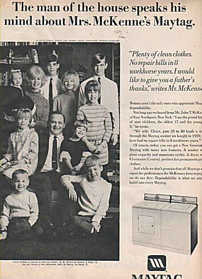 Maytag washer and dryer ad 1968 (Image1)