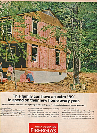 Owens/Corning fiberglas insulation ad 1968 (Image1)