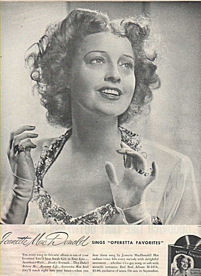 Rca Victor Records - Jeannette Mac Donald 1946