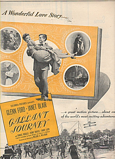 Movie: GALLANT JOURNEY  - GLENN FORD -  JANET BLAIR (Image1)