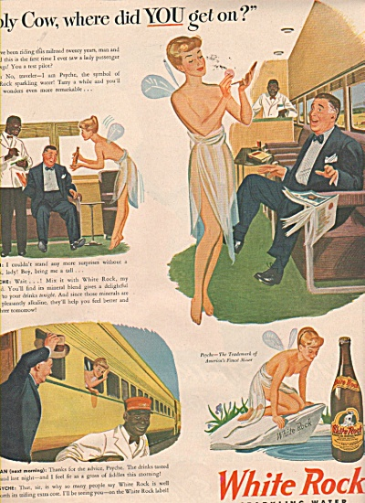 White Rock Sparkling Water Ad 1946