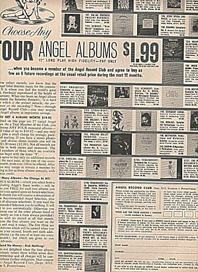 Angel Albums ad 1960 (Image1)