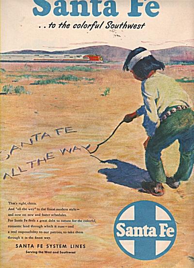 Santa Fe system lines ad 1946 (Image1)