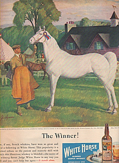 White Horse blended scotch whiskey ad 1946 (Image1)