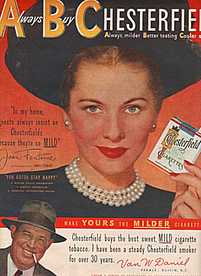 ABC Chesterfield - JOAN FONTAINE  ad 1949 (Image1)
