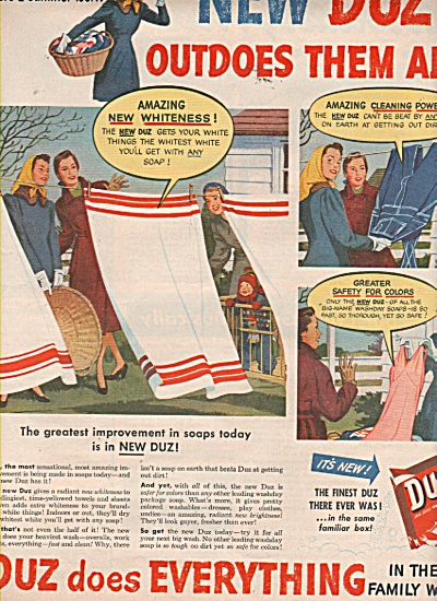DUZ wash soap ads 1949 (Image1)