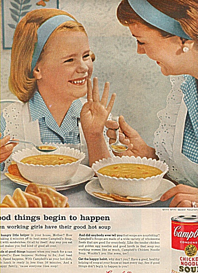 Campbell's chicken noodle soup 1960 (Image1)