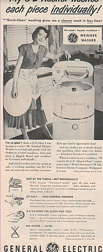 General electric washer ad 1949 (Image1)