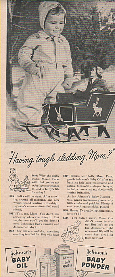 Johnson's baby oil & powder ad 1949 (Image1)