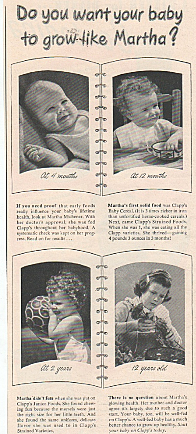 Clapp's baby foods ad  1949 (Image1)