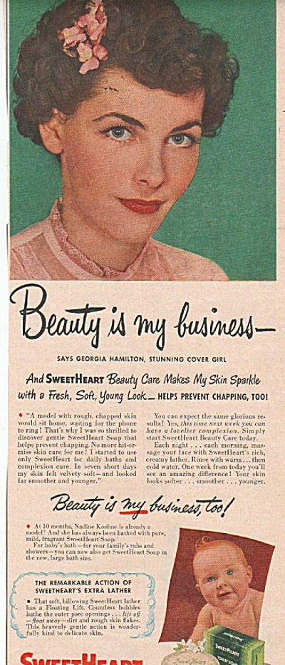 Sweetheart Soap Ad 1949