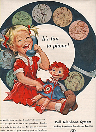 Bell Telephone system ad 1958 LITTLE GIRL (Image1)