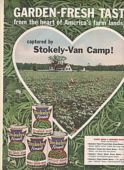 Stokely-Van Camp beans ad 1958 (Image1)