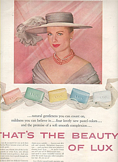 Lux soilet soap - MARTHA HYER  ad 1958 (Image1)