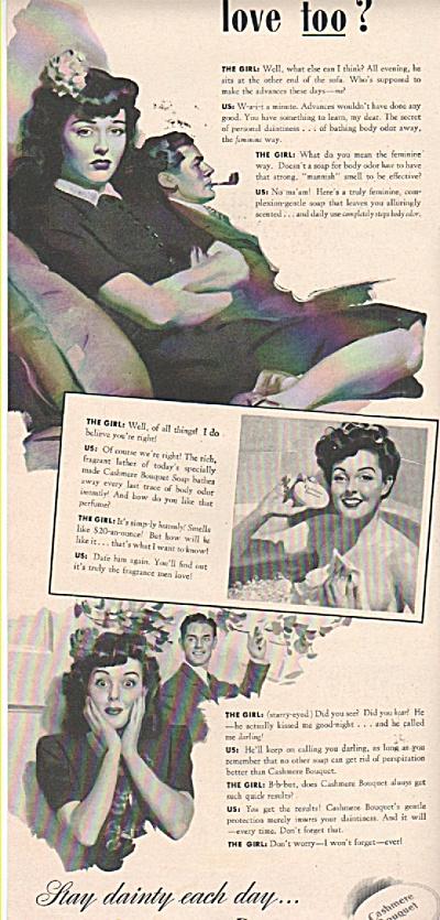 Cashmere Bouquet soap ad 1943 (Image1)