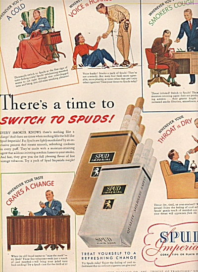 Spud imperials cigarettes ad 1943 (Image1)