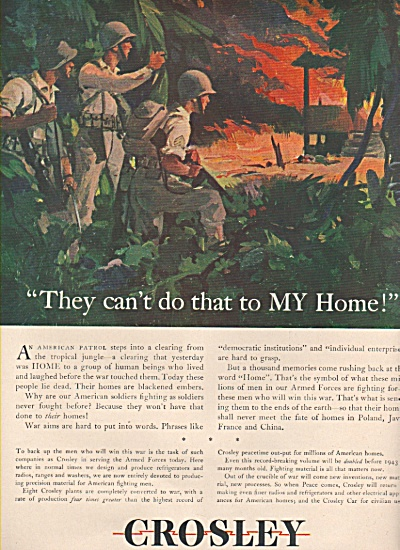 Crosley AD  1943 WWI Patrol Finds HOME BURNED by JAPS (Image1)