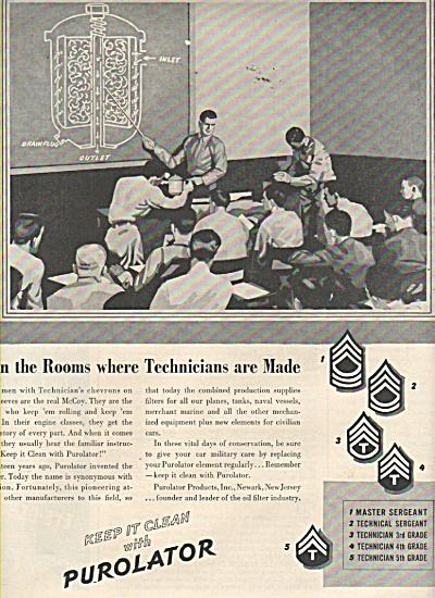 Purolator ad.  1943 (Image1)