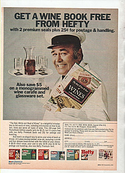 Hefty bags - JOHNATHAN WINTERS  ad 1974 (Image1)