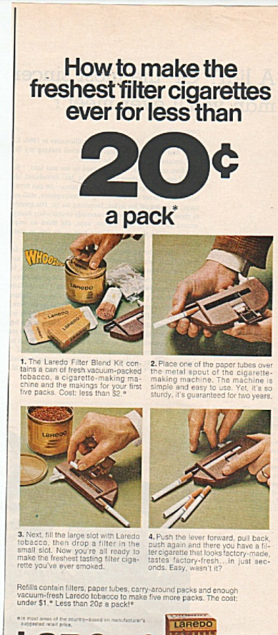 Laredo filter blend ad 1971 (Image1)