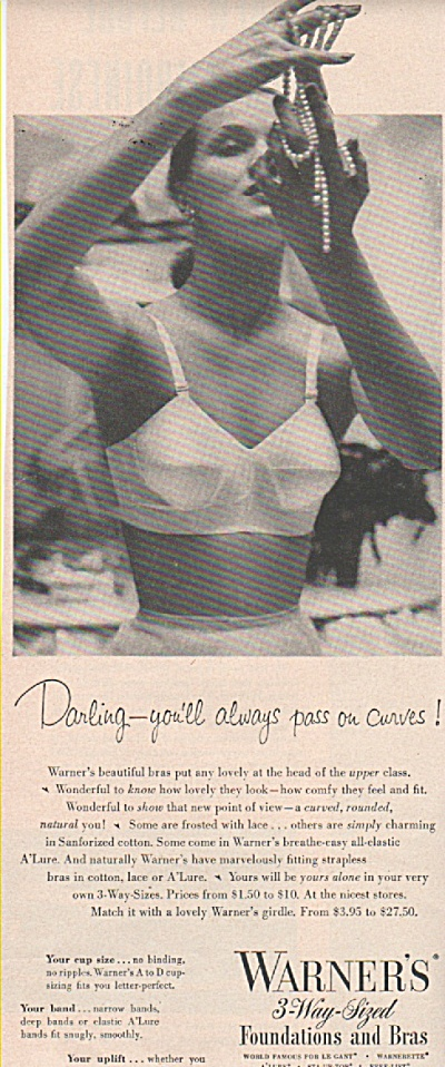 Warner's foundations and bras ad 1951 (Image1)