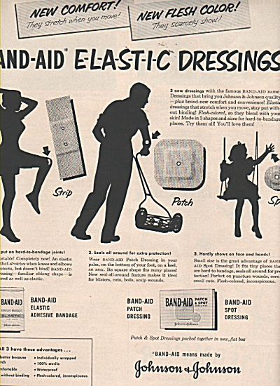 Johnson & Johnson dressings ad 1951 (Image1)