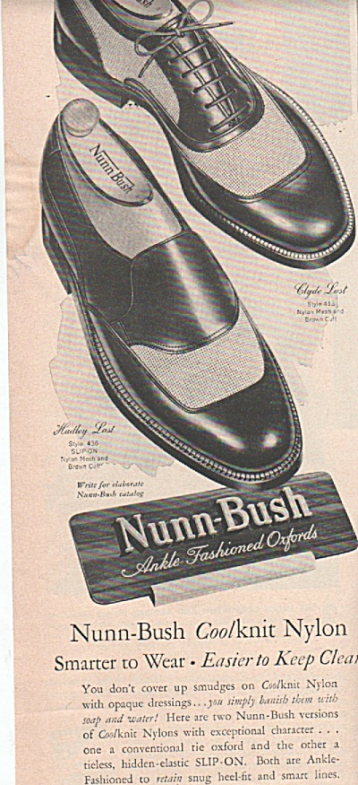 Nunn-Bush oxford shoes -ad 1951 (Image1)