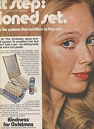 Clairol Kindness hair spray ad 1970 (Image1)