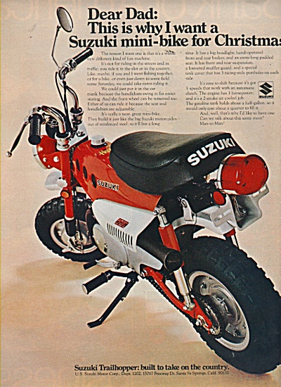 Suzuki motorcycles bikes ad 1970 (Image1)