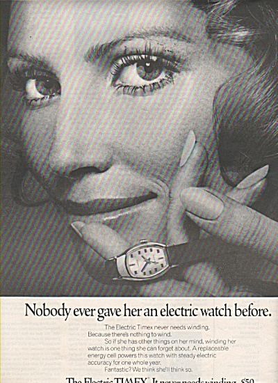 Timex Electric Watch Ad 1970